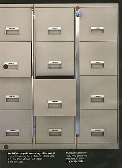 4 Drawer file filing cabinet - lightweight steel -