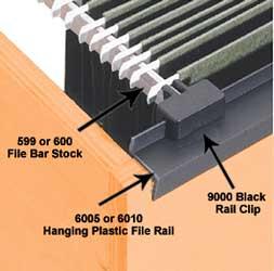 Plastic Hanging File Folder Drawer Moulding Available In
